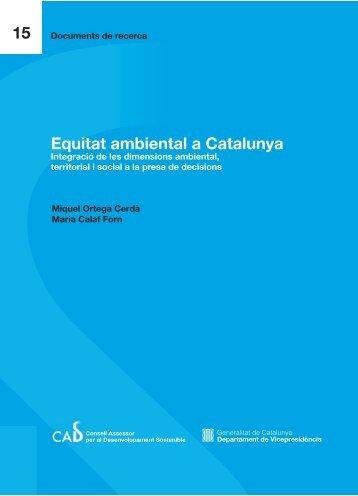 Equitat ambiental a Catalunya. Integració de les dimensions