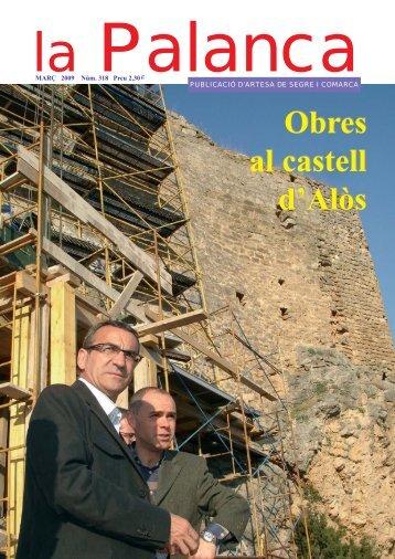 Obres al castell d'Alòs Obres al castell d'Alòs - La Palanca