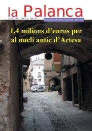 1,4 milions d'euros per al nucli antic d'Artesa - La Palanca