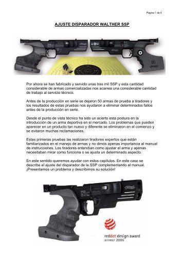 AJUSTE DISPARADOR SSP - Walther