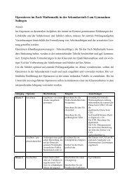 Einführung der Operatoren in der Mittelstufe - Gymnasium Sulingen