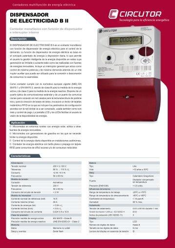 DISPENSADOR DE ELECTRICIDAD B II - Circutor