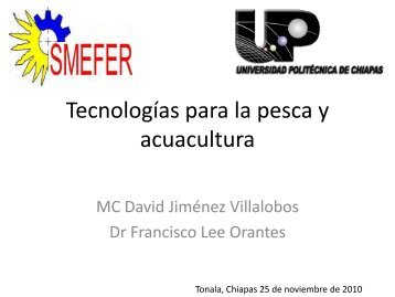 Tecnologías para la Pesca y Acuacultura UP