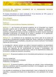 ESTATUTO DEL PERSONAL ACADÉMICO DE LA ... - UNAM