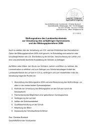 11-2010 - G8- Bildungsplanreform 2004 - Gymnasium Weingarten