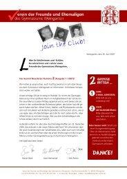 Newsletter 2007 - Gymnasium Weingarten