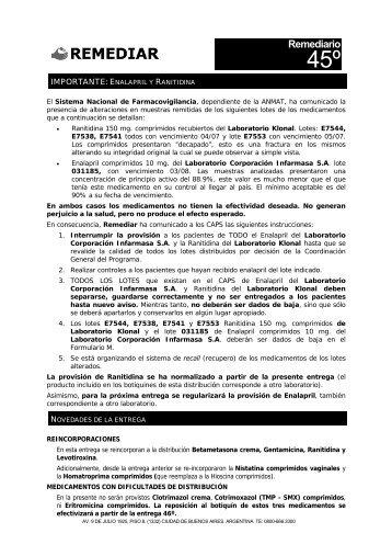 remediario 45 - Remediar+Redes