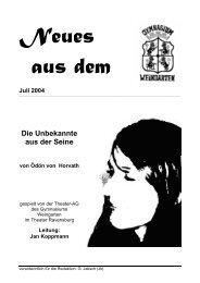 Ausgabe 2/2004 (Juli) - Gymnasium Weingarten
