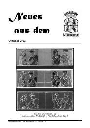 Oktober 2003 - Gymnasium Weingarten
