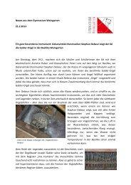 Dekanantskirchenmusiker Stephan Debeur zeigt der 6 - Gymnasium ...