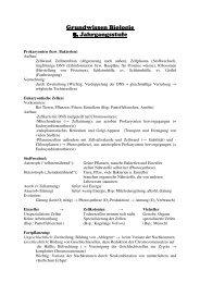 Grundwissen Biologie 8. Jahrgangsstufe - Gymnasium Waldkraiburg