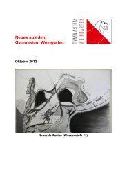Ausgabe 4/2012 (Oktober) - Gymnasium Weingarten