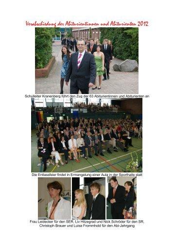 Verabschiedung der Abiturientinnen und Abiturienten 2012