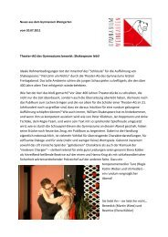 Theater-AG - Gymnasium Weingarten