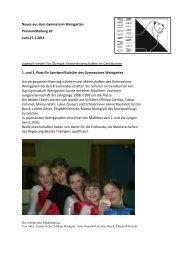PM 11-01 vom 27.01.2011: Jugend trainiert - Gymnasium Weingarten