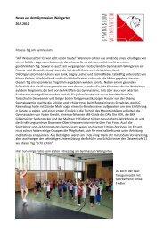 Neues aus dem Gymnasium Weingarten 20.7.2012 Fitness-Tag am ...