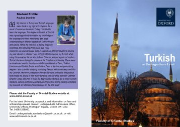 Turkish - Faculty of Oriental Studies
