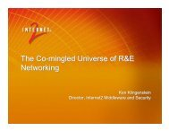 The Co-mingled Universe of R&E Networking ... - Internet2 Security
