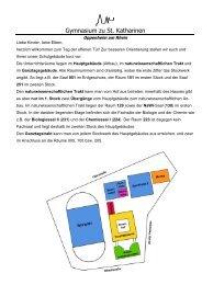 Sport - Gymnasium zu St. Katharinen Oppenheim