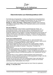 Elterninformation zum Betriebspraktikum - Gymnasium zu St ...