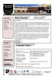Newsletter 14 August 2010 (PDF) - Chapel-en-le-Frith High School