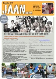 JAAN news december 2011 - Jakarta Animal Aid Network