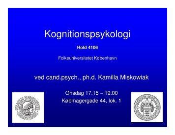 Kognitionspsykologi