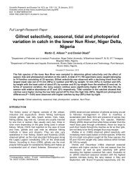 Gillnet selectivity, seasonal, tidal and photoperiod variation in catch ...