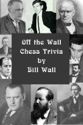 Off the Wall Chess Trivia - Bellaire Chess Club