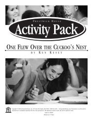 One Flew Over the Cuckoo's Nest - Activity Pack ... - Prestwick House