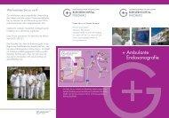 Flyer Ambulante Endosonografie - Gesundheitszentrum Wetterau