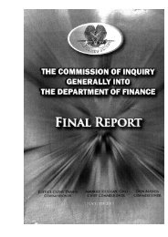 Commission of Inquiry Final Report