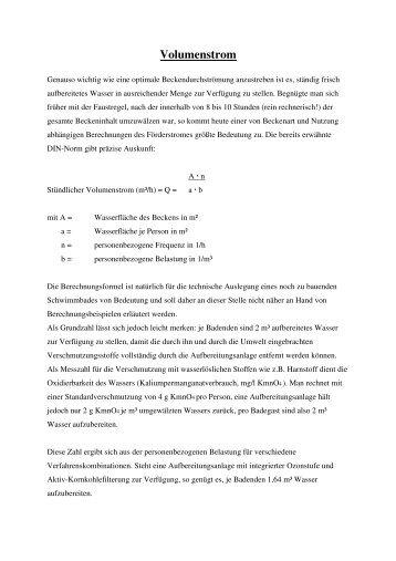 Volumenstrom - haaker.de