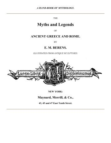Myths and Legends - Ebooks on Everything.