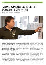 Paradigmenwechsel bei Schleif-Software - forum 4/2012 - HAAS ...