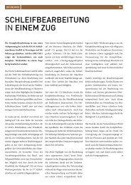 Schleifbearbeitung in einem Zug - forum 4/2011 - HAAS ...