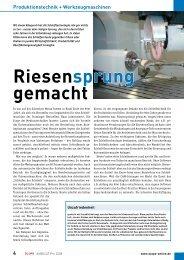 Riesensprung gemacht - HAAS Schleifmaschinen GmbH