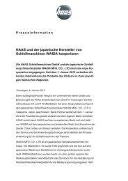HAAS und der japanische Hersteller von Schleifmaschinen WAIDA ...