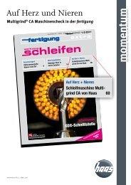 momentum Nr. 4 - HAAS Schleifmaschinen GmbH