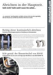 momentum Nr. 1 - HAAS Schleifmaschinen GmbH