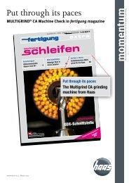 momentum No. 4 - HAAS Schleifmaschinen GmbH