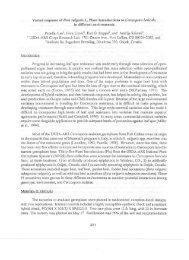 Varied response of Beta vulgaris L. Plant Introductions - ASSBT ...