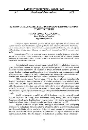 BAKI UNİVERSİTETİNİN XƏBƏRLƏRİ №2 - Bakı Dövlət Universiteti