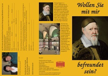 flyer - Herzog August Bibliothek Wolfenbüttel