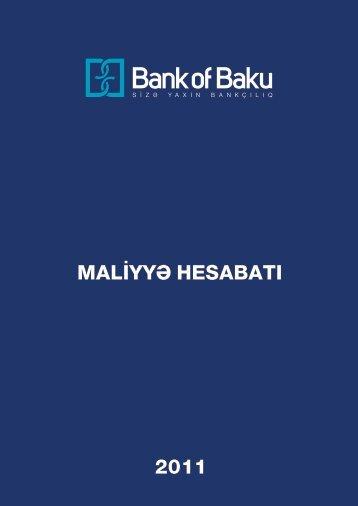 MALİYYƏ HESABATI_2011.cdr - Bank of Baku