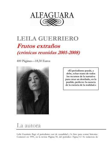 Dossier de prensa Frutos extraños - Alfaguara