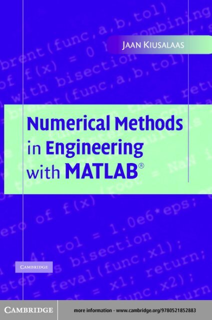 Numerical Methods In Engineering With Matlab Pdf