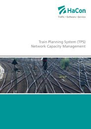 Train Planning System (TPS) Network Capacity Management - HaCon