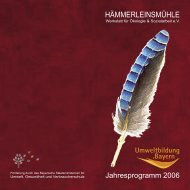 Jahresprogramm 2006 - Hämmerleinsmühle