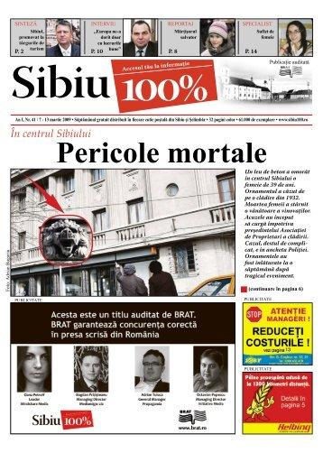 Pericole mortale - Sibiu 100